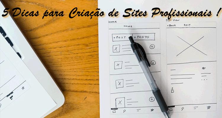 5 Dicas para Criação de Sites Profissional